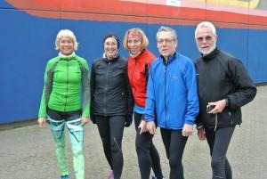 von links: Heidi, Ute, Bea, Klaus und Horst-Helmut